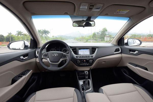 Nội thất Hyundai Accent 2020 - Hyundai Bình Dương