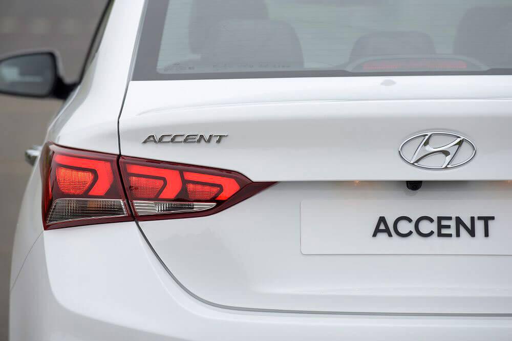 Thiết kế phần đuôi xe Hyundai Accent
