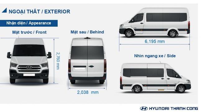 Kích thước xe Hyundai Solati