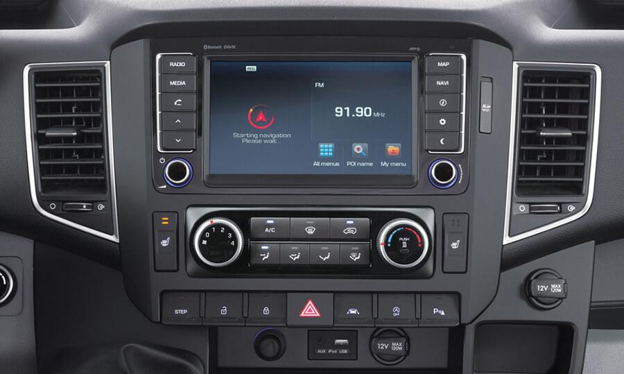 Tiện nghi trên Hyundai Solati