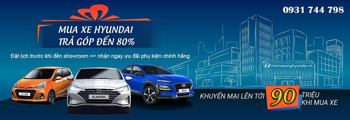 Mua xe Hyundai trả góp Hyundai Bình Dương