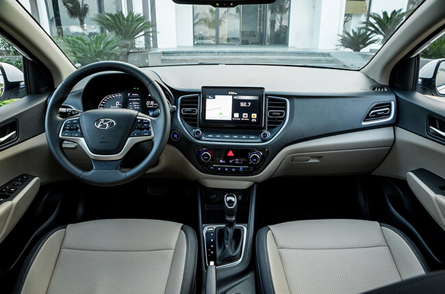 Nội thất xe Hyundai Accent mới