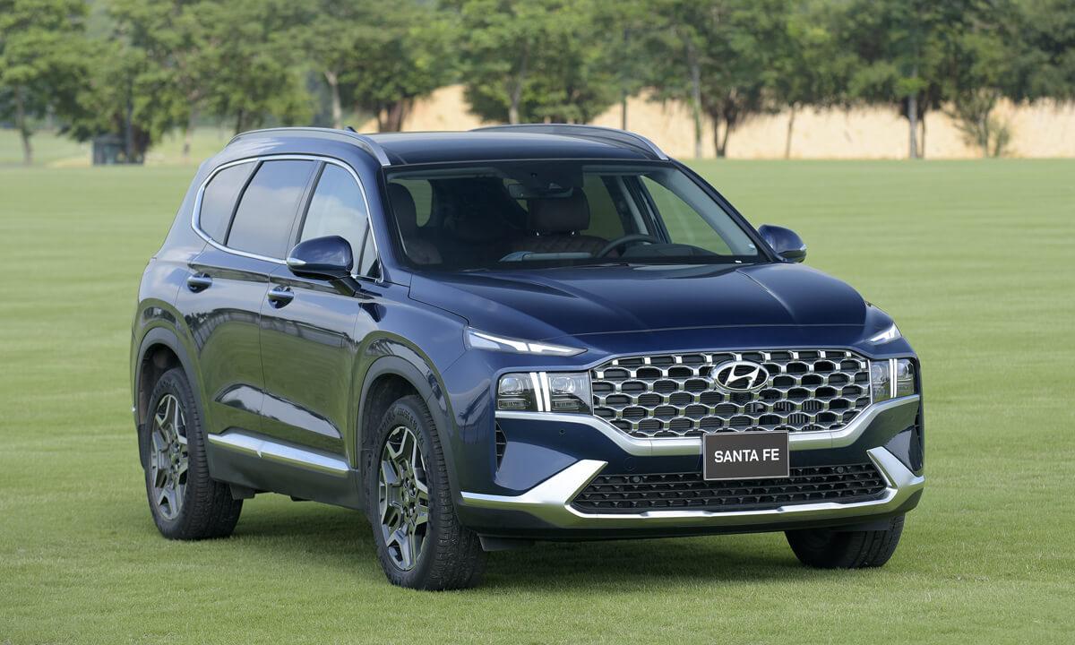 Thiết kế xe ô tô Hyundai New Santa Fe 2021