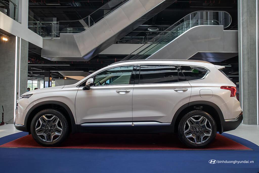 Thiết kế bên hông xe Hyundai Santa Fe 2021