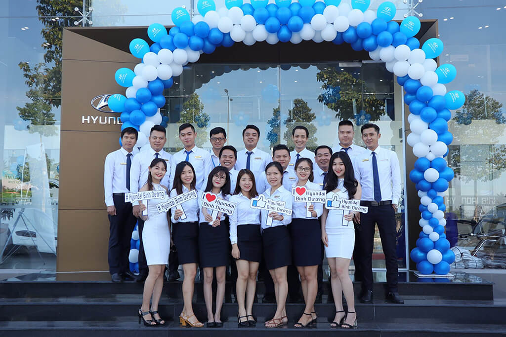 Đội ngũ nhân viên Hyundai Bình Dương