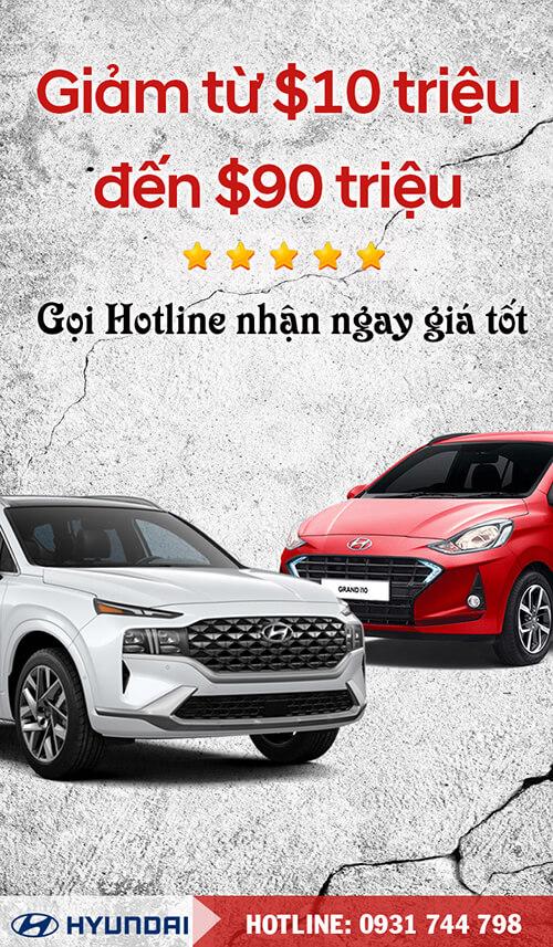 Chương trình giảm giá xe ô tô Hyundai Bình Dương